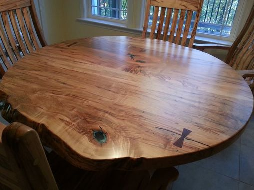 Custom Made Round Ambrosia Maple Dining Table