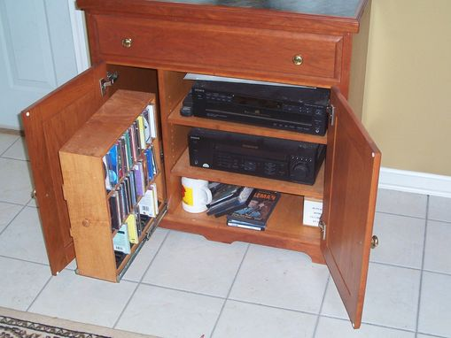 Custom Made Cherry Entertainment Stand
