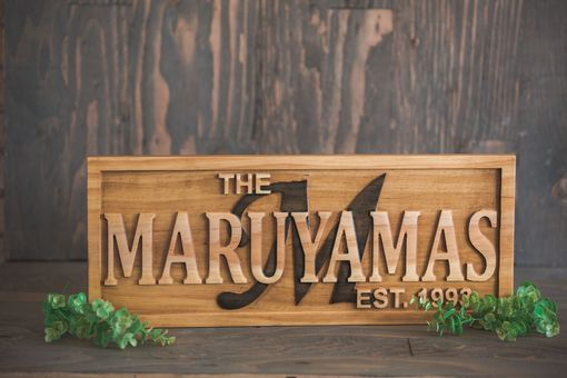 Custom Made Family Established Sign Wood Signs Last Name Sign Wood Wall Art Custom Wood Sign Name Plaque