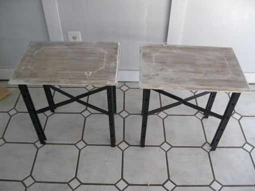 Custom Made Wrought Iron End Tables