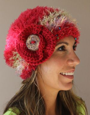 Custom Made Sold~ Fuchsia Soft, Fiber Art, Crochet Hat