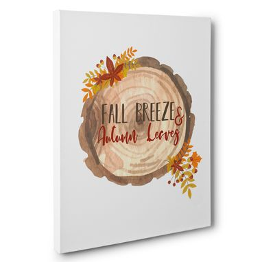 Custom Made Fall Breeze And Autumn Leaves Canvas Wall Art