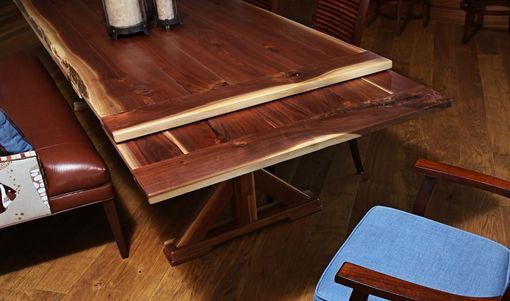 Custom Made Black Walnut  Live Edge Refectory Dining Table