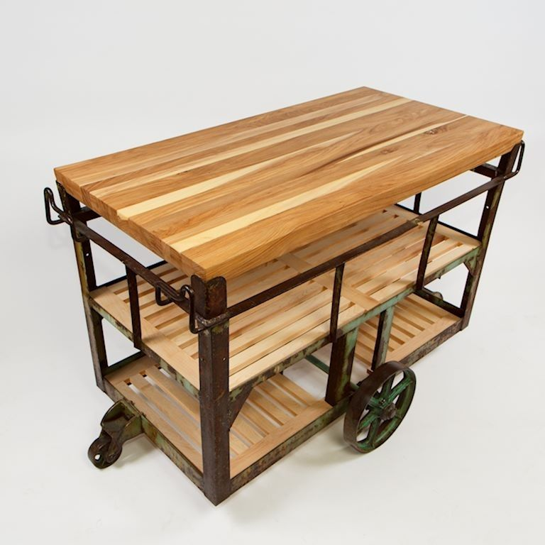 Buy A Handmade Kitchen Island Cart, Made To Order From Idea Custom