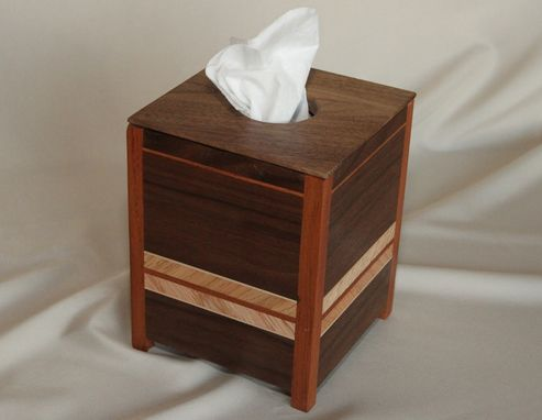Custom Made Black Walnut Tissue Box