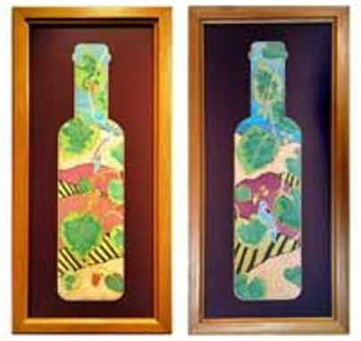 Custom Made Painting, Wine Bottle Reflections