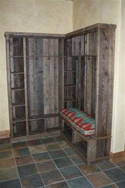 Custom Made Reclaimed Wood Entry Foyer Bench