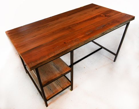 Custom Made Industrial Desk W/ Reclaimed Wood