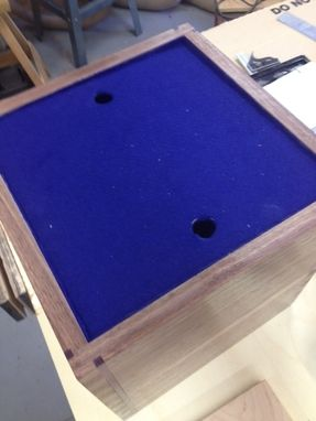 Custom Made James' Wood Box/Case For Champagne Glasses