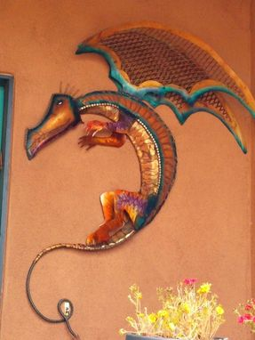 Custom Made Sculpture,Wall Art, Custom Steel Dragon
