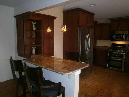 Custom Made Affordable Cherry Shaker Handcrafted Kitchen With Specialty Pantry
