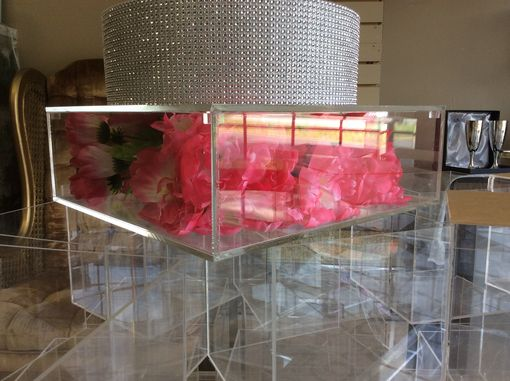 Custom Made Clear Acrylic Cake Stand Box, Removable Lids, Lucite, Custom Hand Made