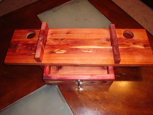 Custom Made Cedar Bathroom Shelf With Drawer