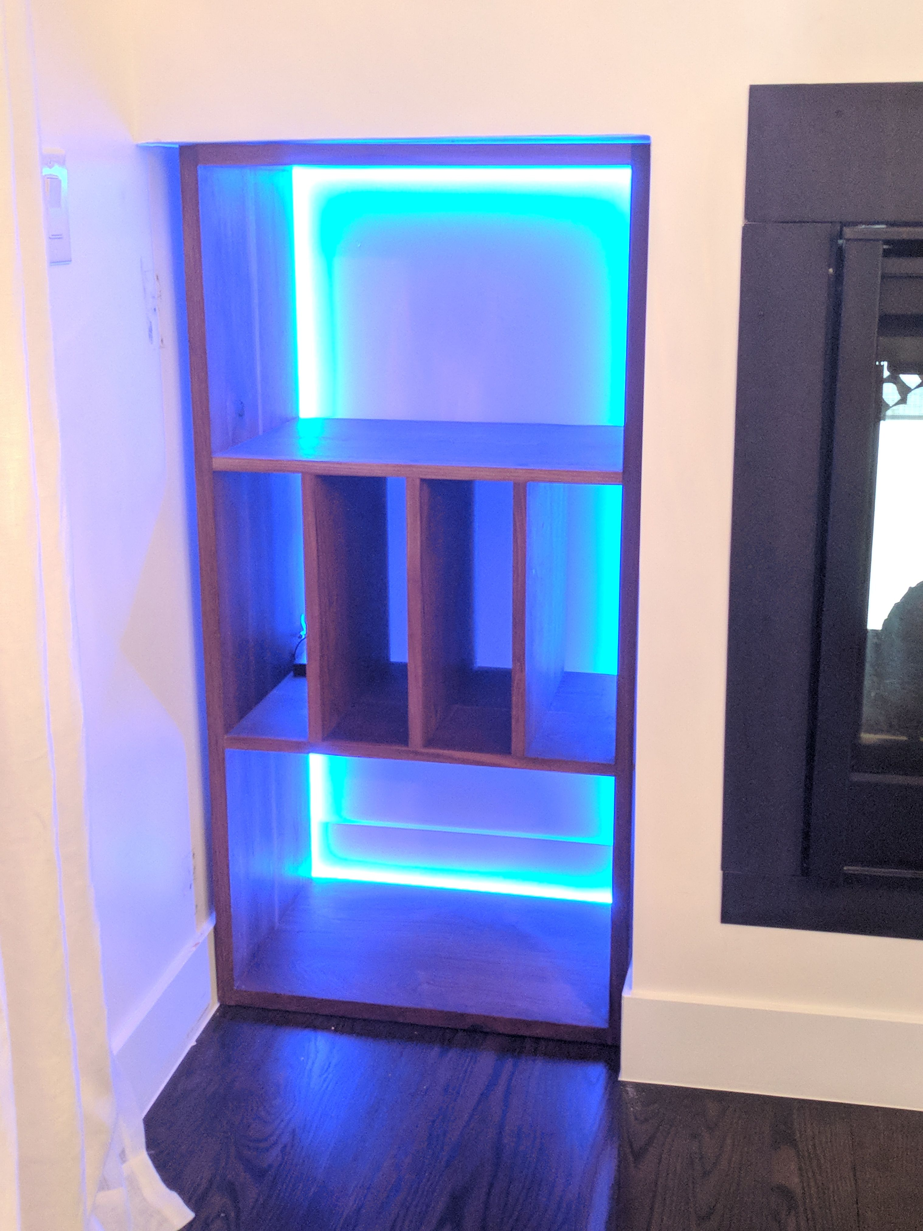 wine rack lighting. Custom Made Modern Walnut Wine Rack With Led Lighting R