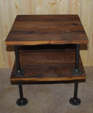 Custom Made Rustic Barnwood Side Table