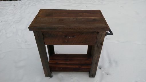 Custom Made Barnwood Kitchen Cart
