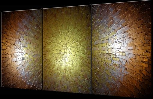 Custom Made Palette Knife Painting, Abstract Art, Large Gold Art, Silver Artwork, Fine Art By Lafferty - 36x72