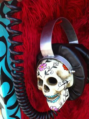 Custom Made Djz Coffin & Giant Headphones