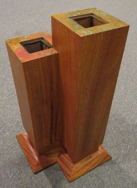 Custom Made Frank Lloyd Wright Double Vase