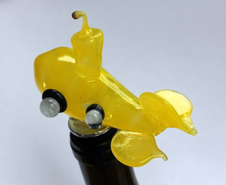 Custom Made Submarine Wine Stopper Glass Statue