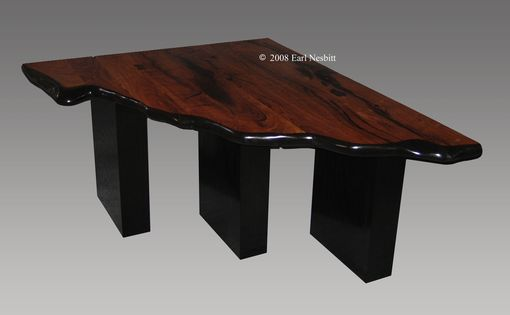 Custom Made Corner Table, Mesquite, Ash
