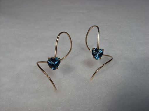 Custom Made London Blue Topaz Heart Swirls