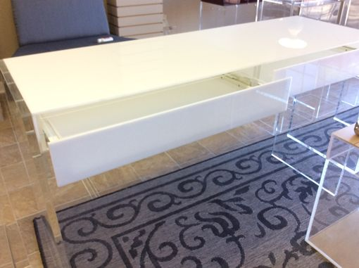 Custom Made Custom Hand Made Acrylic Vanity Desk, Lucite Table For Bedroom, Bathroom