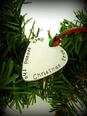 Custom Made Christmas Guitar Pick Ornament