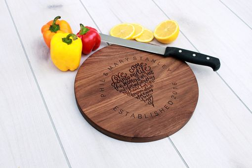 Custom Made Personalized Cutting Board, Engraved Cutting Board, Custom Wedding Gift – Cbr-Wal-Philmarystanley