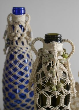 Custom Made Macrame (Knotted) Bottles