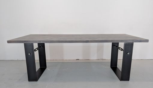 Custom Made Weathered Gray Industrial Farmhouse Table