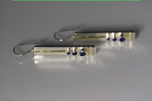 Custom Made 3 Stone Sequence Earring 14k (Sapphire)