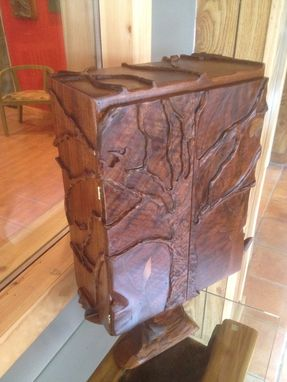 Custom Made Miniature Carved Tree Cabinet