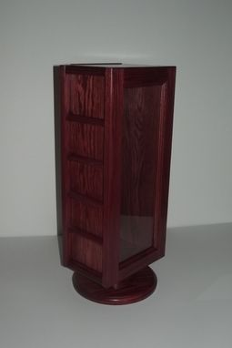Custom Made Coin Rack Display Case On Turn Table