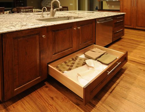 Custom Made Burnt Umber Cherry Kitchen