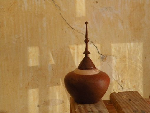 Custom Made Cherry Platters & Mahogany Lidded Vessel
