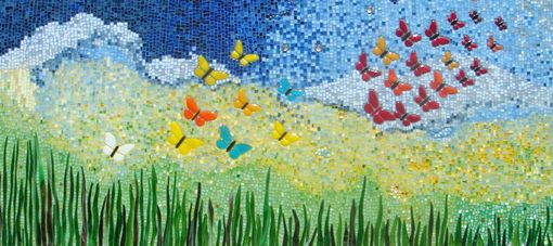 Custom Made Wall Decor Butterfly Mosaic Ii