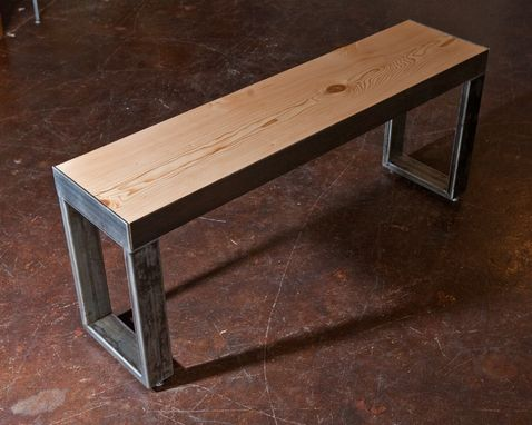 Custom Made Recycled Wood And Metal Custom Benches
