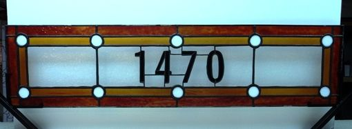 Custom Made Traditional Stained Glass Address Marker(Am-164)
