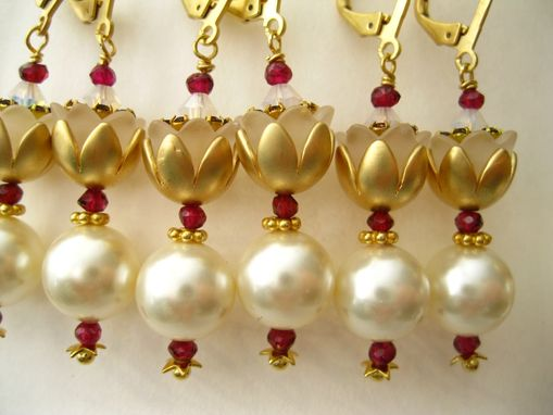 Custom Made Wedding Party Pearl Earrings