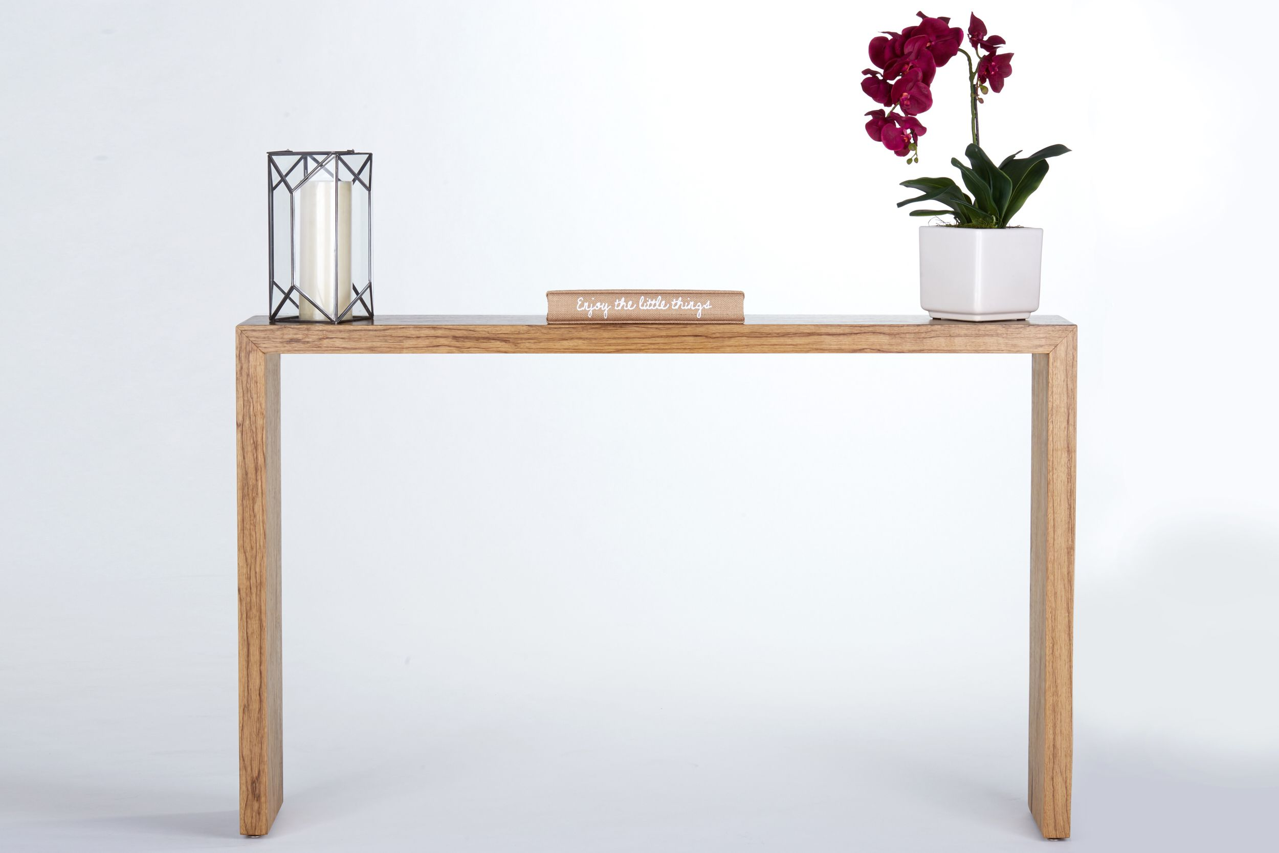 hand crafted waterfall console table entryway table