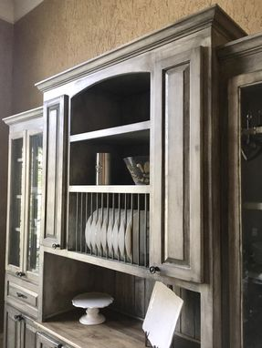 Custom Made Glaze Distressed Hutch