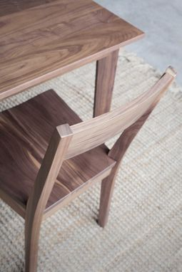 Custom Made Walnut Ventura Side Chair
