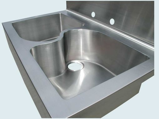 "Custom Made Stainless Sink With ""S"" Divider & Apron"