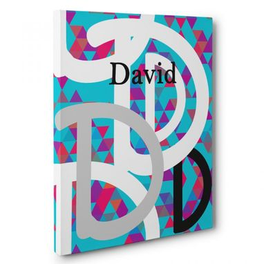 Custom Made D Letter Custom Name Canvas Wall Art