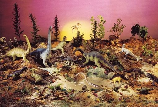 Custom Made Carnegie Museum Of Natural History Dinosaur Collection Primeval World Diorama Display