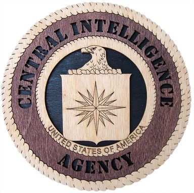 Custom Made Central Intelligence Agency Wall Tribute, Central Intelligence Agency Hand Made Gift