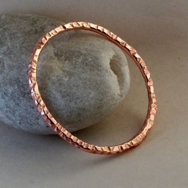 "Custom Made 7-Gauge Copper Bangle ""Willow''"