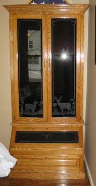 Hand Made Oak Gun Cabinet By Flads Furniture Custommade Com