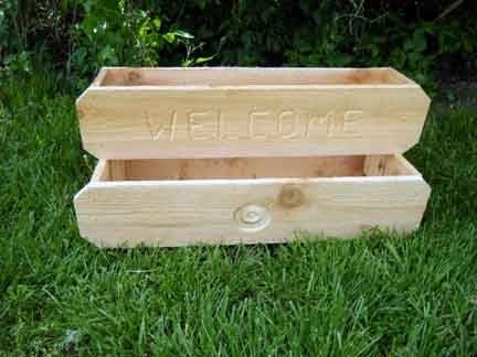 Custom Made Double Cedar Planter